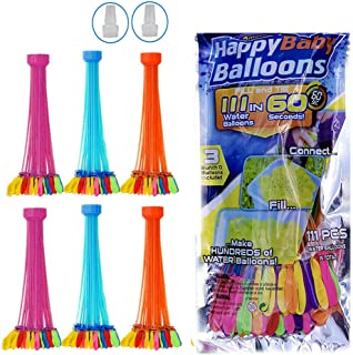 222Pcs Water Balloons Toys for Kids   Self Sealing Balloons in 3 Filling Bunch Pack For Girls & Boys   Splash Fight Blooni...