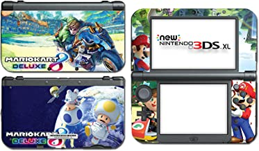 Mario Kart 8 Deluxe Animal Crossing Video Game Vinyl Decal Skin Sticker Cover for the New Nintendo 3DS XL LL 2015 System Console