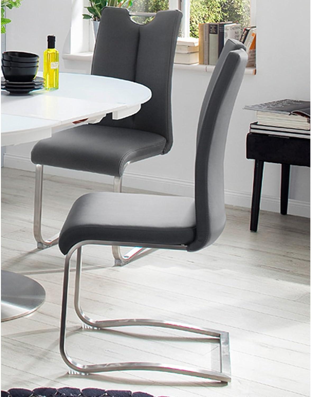 Schwingstuhl Esszimmerstuhl Küchenstuhl Schwinger Stuhl  Kerrin I  (2-er Set) Grau