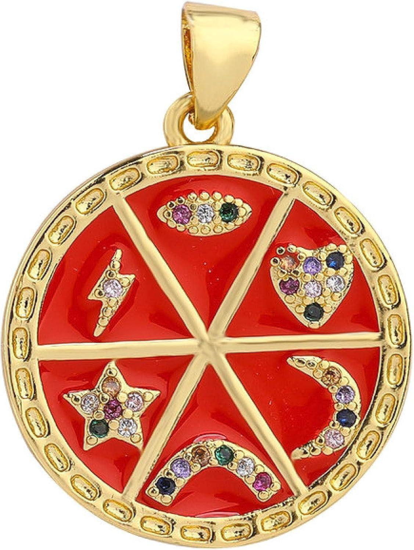 Diy Cheap Luxury Enamel Pendants Cubic Sales results No. 1 Heart Zirconia Star Charms Lion