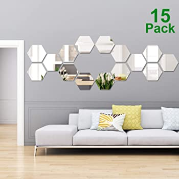 Elegant Geometry Mirror Romantic Home Living Room Decor Wall Sticker
