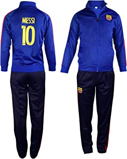 Barcelona Messi #10 Kids Soccer Tracksuit All Youth Sizes Soccer Track Jacket and Track Pants Gift Set