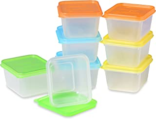 EasyLunchboxes Mini Dippers Small Dip, Condiment, or Sauce Containers, Leak-Resistant, Set of 8