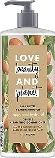 Love Beauty And Planet Happy & Hydrated Acondicionador suave para cabello seco, manteca de karité y aceite de sándalo, sin silicona, 1 unidad (500 ml)