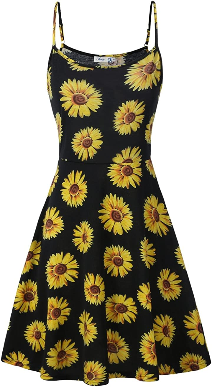FINMYE Womens Sleeveless Floral Printed High quality Sundress Swing Spaghetti Bombing free shipping