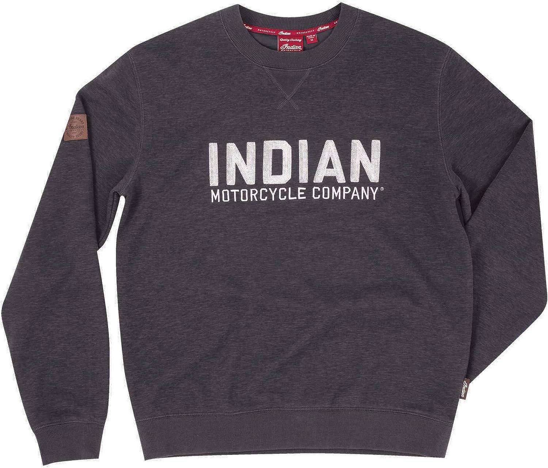 Indian Motorcycle Men's Pull-Over 爆買い新作 販売 Logo Sweatshirt Block with