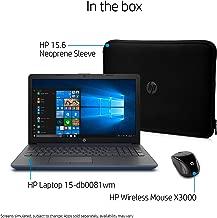 HP High Performance Laptop PC 15.6-inch HD Display AMD E2-9000e Processor 4GB DDR4 RAM 500GB HDD WIFI HDMI Bluetooth Webcam Sleeve&Mouse Windows 10 - Twilight Blue