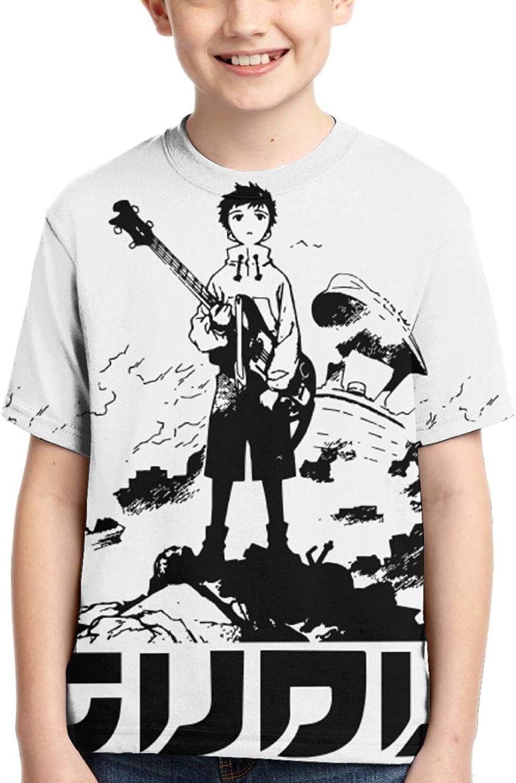 FLCL Boys T-Shirt Kids Crewneck Short Sleeve Youth Shirt Teen Tee Tops Child