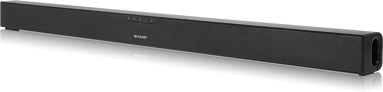 Sharp HT-SB140 2.0 - Barra de Sonido Cine en casa (Bluetooth, HDMI, ARC/CEC, 150 W de Potencia, 95 cm) Color Negro Brillo