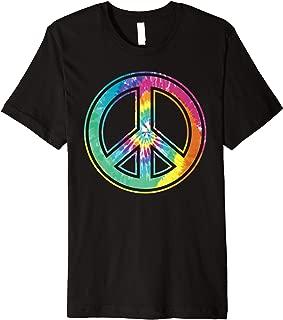 Tie Dye Peace Sign Pastel Color Retro 60's 70's Hippie Premium T-Shirt