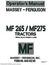 Operator's Manual - MH-O-MF265/275 Massey Harris/Feguson Massey Ferguson 275 275 265 265