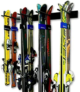 StoreYourBoard Ski Wall Storage Rack, Holds 8 Pairs, Steel Home and Garage Skis Mount