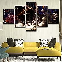 alicefen Modern Wall Art HD Impreso Marco De Fotos Modular 5 Piezas Música Perturbado Hard Rock Heavy Metal Ahora Posters Decoración para El Hogar Imágenes Enmarcadas-No Frame