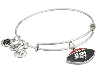 Alex and Ani Color Infusion Tampa Bay Buccaneers Football II Bangle (Rafaelian Silver) Bracelet