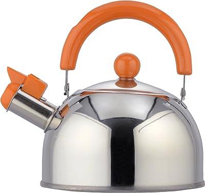 和平フレイズ ケトル お湯 キャンディール 1.5L オレンジ 笛吹タイプ IH対応 CR-5285