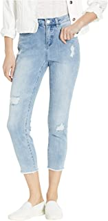 Women's Olivia Roll-up Cropped Jean with Stripe Inside Patches Detail