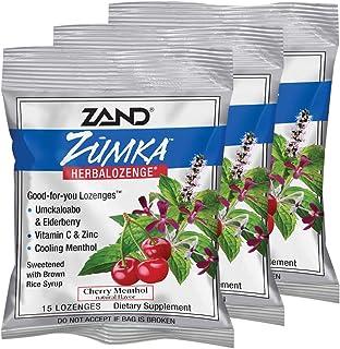 Zand HerbaLozenge Zumka | Vitamin C Lozenges w/Zinc & Herbal Extracts for Soothing Throat | No Corn Syrup or Cane Sugar | ...