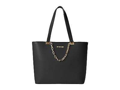 LOVE Moschino Luminous Chain Tote (Black) Handbags
