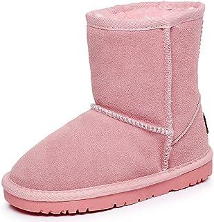 Shenn Chicos Chicas Invierno Calentar Clásico Comodidad Anti-Deslizante Ante Nieve Botas TD5825