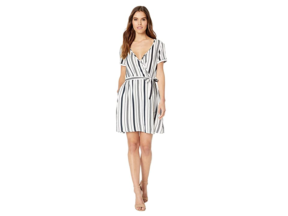 Roxy Monument View Dress (Marshmallow Licorice Stripe) Women
