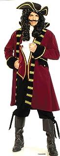 Adult Mens Disney Captain Hook Peter Pan Caribbean Pirate  Fancy Dress Costume