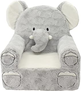 Sweet Seats | Grey Elephant Children's Chair | Large Size | Machine Washable Cover