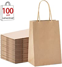 GSSUSA 100pcs Brown Kraft Paper Bags 5.25