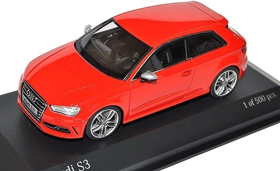 Minichamps A U D I A3 S3 8v 3 Türer Rot Ab 2012 1 43 Modell Auto Mit Individiuellem Wunschkennzeichen Spielzeug