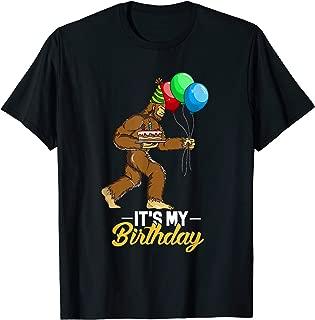 Bigfoot Birthday Cake Balloons Sasquatch Yeti T-Shirt