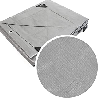 XtremepowerUS Heavy Duty Tarps 14 Mil Silver Multi-Purpose Waterproof Poly Tarp Cover with Tent Shelter Camping Tarpaulin (20'x30')
