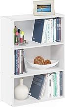 Furinno Pasir 3-Tier Open Shelf Bookcase, Plain White
