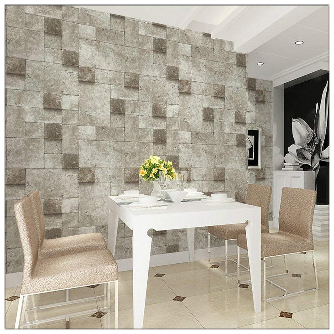 しわ塗抹普通にHaokHome 69152 DIYモダンファッション石のパターン壁紙壁用レンガのパターン 3D屋内 ベッドルーム装飾 53cm×10m(並行輸入品)