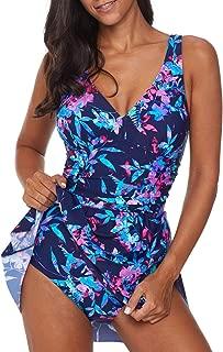 Women One Piece Swimdress Tummy Control Swim Dress Swimwear Slimming Skirt Swimsuits Bathing Suit(S-3XL)