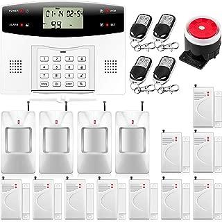 KERUI G2 PSTN/gsm Sistema de Alarma para el Hogar Control de Marcado Automático por SMS/Llamada, Monitoreo Remoto,Kit de Alarma Antirrobo Inalámbrica DIY Incluye Pilas para la Casa Tienda Garaje