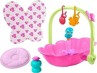 MyGardenBaby coffret Nénuphar 2-en-1, couffin-baignoire et 7 accessoires pour poupon bébé papillon, jouet pour enfant dè...