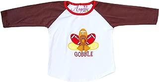 Boutique Baby Toddler Little Boys Girls Unisex Halloween Thanksgiving Raglan T-Shirt
