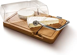 Boska Holland Cheese Slicer Board wit Cutting Wire and Lid, European Oak Wood, Petit Paris, Life Collection