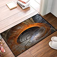 Non-Slip Mat Microfiber Bathroom Rug Shower Mat, 3D Fractal,Ethereal Concept Themed Fantasy Magic Art Print in, Ultra Soft and Water Absorbent Bath Rug,Machine Wash/Dry 20x 31 inches