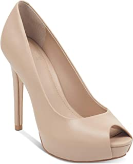 Guess Womens Honora 2 Leather Peep Toe Classic Pumps US