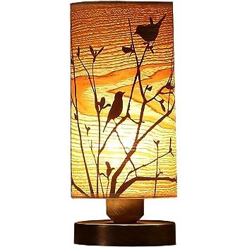 Bieye L10272 木製ランプ 枕元スタンド 枕元ライト 枕元ランプ 木製スタンドランプ テーブルランプ 間接照明 ベッドサイドランプ ベッドルーム リビングルーム シリンダー型 雰囲気ランプ 卓上照明 オシャレ デスクライト 癒しグッズ