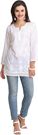 ADA Women's Cotton Chikan Top