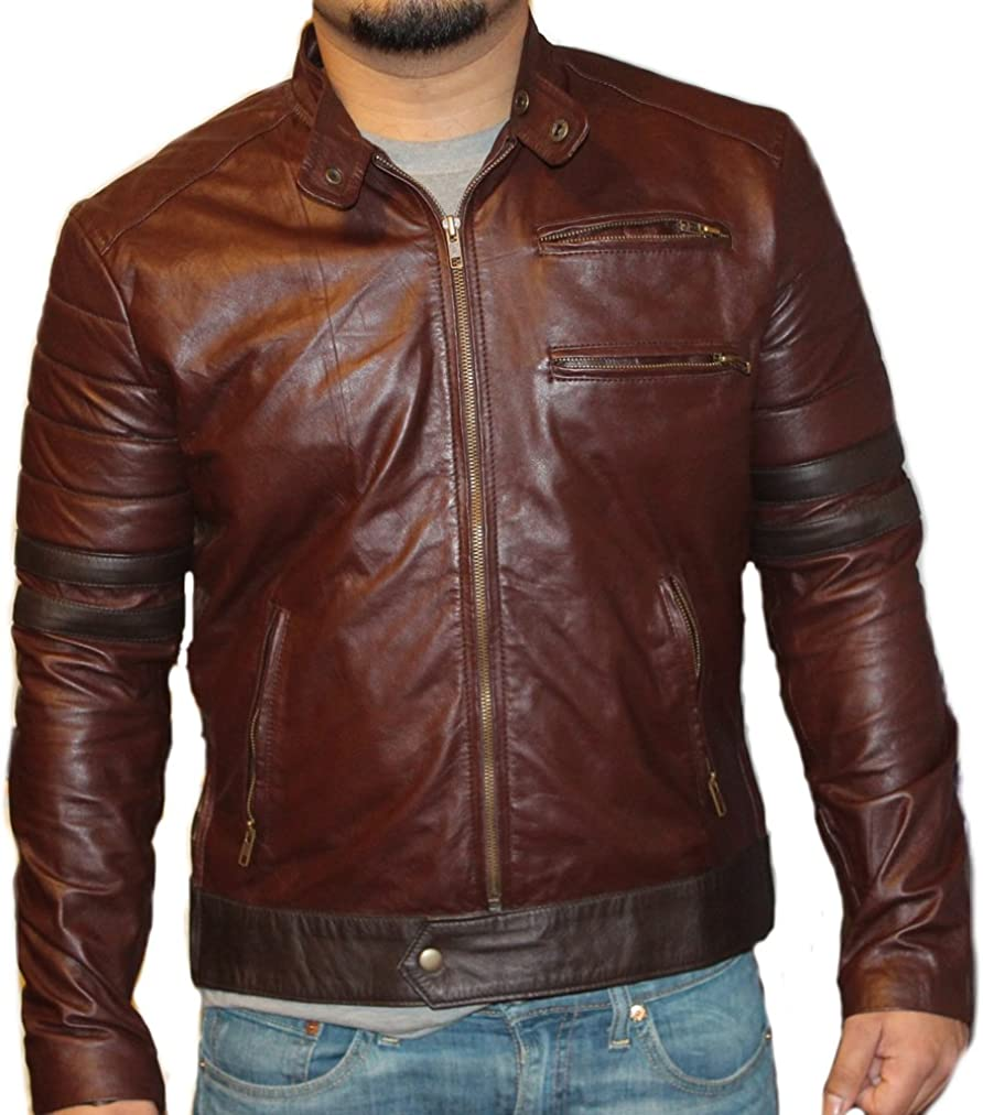 coolhides Mens Double Shade Leather Jacket