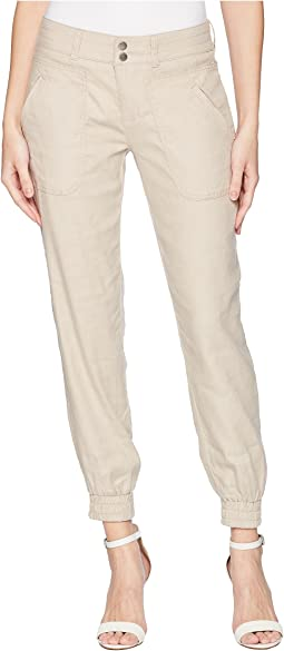 Ava Jogger in Soft Stretch Linen in Flax