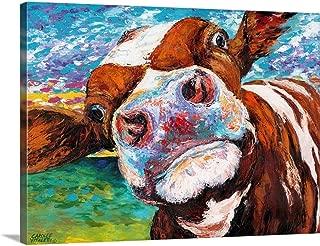 Curious Cow I Canvas Wall Art Print, 40