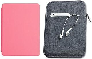 Capa Kindle 10ª geração com iluminação embutida Rosa Claro - Função Liga/Desliga - Fechamento magnético + Bolsa Sleeve Cin...