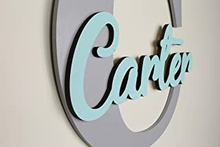 Custom Personalized Wooden Name Sign, Wood Letter, Nursery Wall plaque decor for Boys and Girls