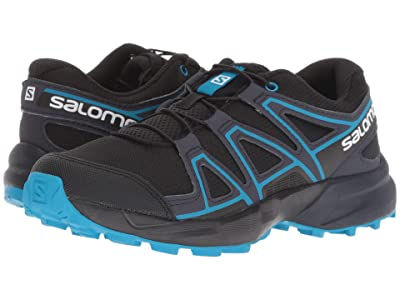Salomon Kids Speedcross (Little Kid/Big Kid) (Black/Graphite/Hawaiian Surf) Kids Shoes