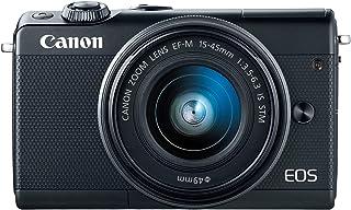 كاميرا كانون 2209C011 ام100 اي اف-ام 15-45 ملم f/3.5-6.3 اي اس اس تي ام، بدون مراة - اسود