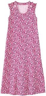 AmeriMark Women's Print Sundress Beach Coverup Sleeveless Patio Dress with Pockets