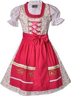 Bayer Madl Kinderdirndl Kissing Creme pink - Trachtenset 3-TLG. Dirndl inkl. Schürze und Bluse - Größen 104-152